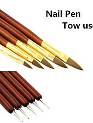 1Set Nail Rhinestone Nail Painting Pen (5PCS/Set)