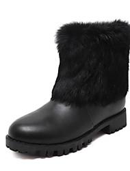 Zapatos de mujer - Tacón Bajo - Botas de Nieve - Botas - Casual - Semicuero - Negro