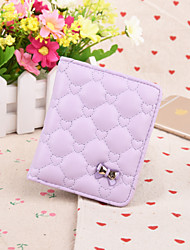 Sweet Style Diamond Lattice Butterfly Knot Candy Colored  Short Vertical Thin  Multi-Card Bit Card Package Lady Wallet