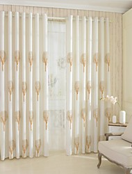 Two Panels European Rural Style Cotton Linen Curtain  Of The Sitting Room The Bedroom Of Children Room Curtain