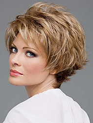 Top Quality Fashion Short Straight Blonde Color Wig Woman's Synthetic Wigs Hair