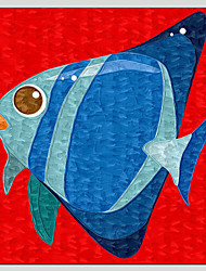 Children Oil Paintings  little fish Style,Canvas Material With Wooden Stretcher Ready To Hang SIZE:70*70CM.