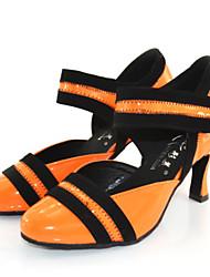 Chaussures de danse ( Jaune / Autre ) - Personnalisable - Talon Large - Suédé - Danse latine