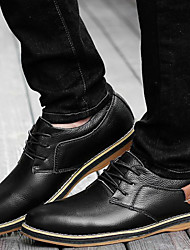 Men's Shoes Outdoor / Office & Career / Work & Duty / Party & Evening / Dress / Casual Leather Oxfords Black / Blue