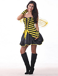 Sexy Adult Bee Costume with Wings Fantasia Cosplay for Girls Angels Elf Fancy Dressfor Carnival