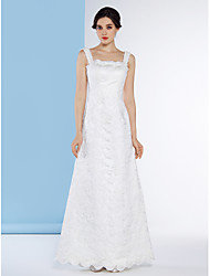 Lanting Bride Trumpet/Mermaid Wedding Dress-Floor-length Straps Lace