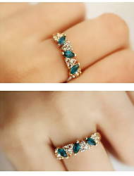 Ring Fashion Party Jewelry Alloy Women Band Rings 1pc,One Size Green