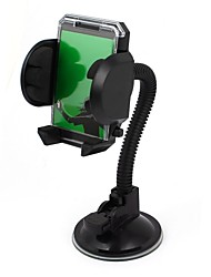 base de succión negro flexibles parabrisas cuello sostenedor del montaje de los gps del teléfono celular