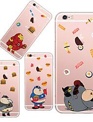 maycari®greedy TPU de super-héros de retour pour iPhone 6 6s / iphone (couleurs assorties)