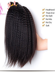 Unprocessed Instock Weave Indian Kinky Straight Hair Extension 3pcs/lot Coarse Yaki Virgin Hair Light Yaki straight