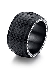 Men's Titanium Steel Ring Ring Tire Pattern Christmas Valentine's Day Gifts