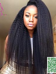 volle Spitze Menschenhaarperücken reine peruanische Haar verworrene gerade 250% Dichte Menschenhaarspitzeperücken für schwarze Frauen