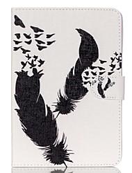 plume cuir Folio Stand cas de couverture avec support pour iPad mini-3/2/1