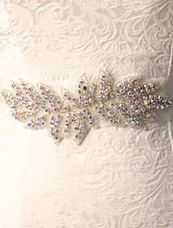 Hand Made Tulle Wedding / Party/ Evening Sash - Pearls / Crystal / Rhinestone Women's Sashes