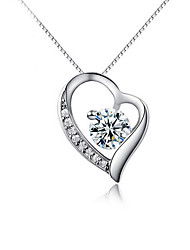 Necklace Pendants Jewelry Wedding / Party / Daily / Casual Sterling Silver Silver 1pc Gift