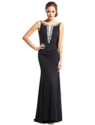 TS Couture Prom Formal Evening Dress - Beautiful Back Trumpet / Mermaid Scoop Floor-length Jersey with Beading