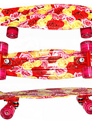 PP Plastic Skateboard (22 Inch) Cruiser Board Red Color