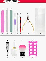 12pc nail art zorg hulpmiddel polish kits en nagel gereedschapskist