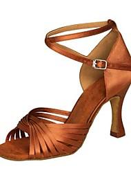 Chaussures de danse ( Noir / Marron / Argent / Or / Fuchsia / Autre ) - Non Personnalisables - Talon Aiguille - Satin / Similicuir -