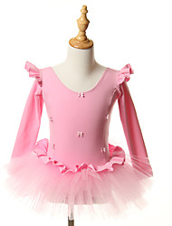 kids dance costumes Ballet Tutus & Skirts / Dresses Children's Performance / Training Cotton Bow(s) 1 Piece Pink