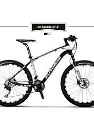 Горный велосипед Велоспорт 30 Скорость 27.5 дюйма 50мм Мужской / Унисекс SHIMANO M610 Двойной дисковый тормоз Пневматическая вилкаУглерод