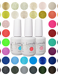 Choose 24 Pieces Lundle Soak Off UV Nail Gelpolish 141 Color Gel Base Top Coat Gel LED Manicure Gel