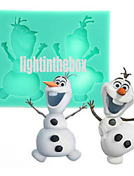 2 in 1 Christmas Cute Snowman DIY Silicone Chocolate Pudding Sugar Cake Mold