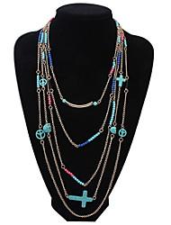 Joyas Collares de cadena / Collares en capas Boda / Fiesta / Diario / Casual Legierung / Gema / Resina / Turquesa 1 pieza MujerRegalos de
