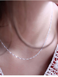 Jewelry Chain Necklaces Wedding / Party / Daily / Casual Silver Plated 1pc Women Wedding Gifts