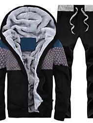 Men's Long Sleeve Set , Cotton Print / Pure