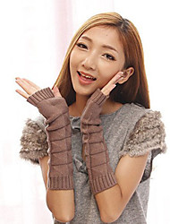 Women's Winter Heap Heap Sleeves Half Gloves Fingerless Triangle Square