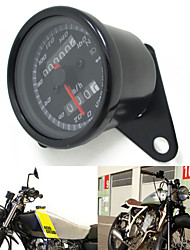 Black 12v Motorcycle Scooter Speedometer Odometer Gauge 0-160KM/h Motorbike Backlit Dual Speed meter with Indicator