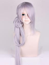 44inch longo Ranbu touken reta imanotsurugi on-line peruca cinza roxo anime cosplay qy-030