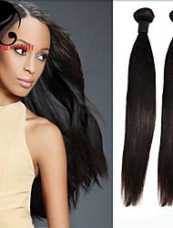 1bundles cabelo humano cabelo reto 8-26inch cabelo brasileiro virgem tece cor natural