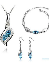 High Quality Crystal Lovely Angle Jewelry Set Necklace Earring (Assorted Color)