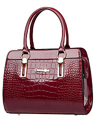 Women's Fashion Casual Crocodile PU Leather Messenger Shoulder Bag/Tote