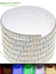 5m 75w 300x5050smd LED RGB / blanc / vert / bleu / jaune / rouge / blanc froid DC12V / blanc chaud étanche IP68 LED Light Strip