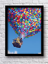 Framed Canvas 33.3*43.3CM Wall Art  Movie Posters Up Wood Decorative Framed Arts