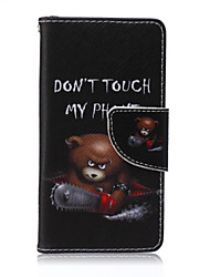 Chainsaw Bear Painted PU Phone Case for Sony Xperia Z5 Compact