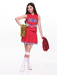 Completi - Per donna - Costumi da ragazza pon pon / Esibizione - Ricami - di Poliester - Rosso