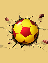 Christmas New Year Presents 3 D Optical Football Wall Stickers Creative Wall Induced A Night Light Lights Lamp LED