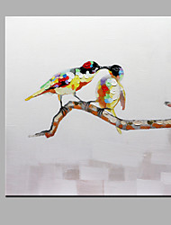 Single Modern Abstract Pure Hand Draw Frameless Decorative Painting The Magpies