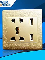 usb cobrando bem socket (esculpida dourado mundial universal)