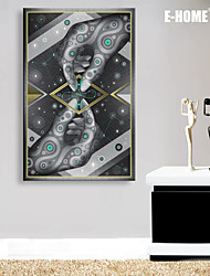 E-HOME® Stretched LED Canvas Print Art Two Hands In A Fantasy LED Flashing Optical Fiber Print One Pcs