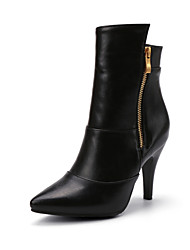 Women's Shoes Synthetic Stiletto Heel Fashion Boots / Basic Pump Boots Outdoor / Office & Career / Casual Black / Beige