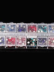 1pcs instrumentos de manicure caixa de jóias de 12 anos recebem um caso elevador capa dupla fileira sozinho acessórios transparentes caixa