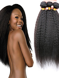 7A Kinky Straight Weave Human Virgin Hair Coarse Yaki Cheap Brazilian Yaki Extensions