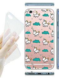 Para Funda iPhone 6 / Funda iPhone 6 Plus Transparente Funda Cubierta Trasera Funda Azulejos Suave TPUiPhone 7 Plus / iPhone 7 / iPhone