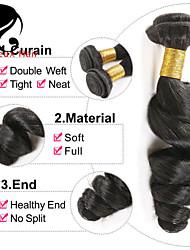 1bundles cheveux vierges couleur d'onde 8-26inch brésilien lâche # 1b non transformés cheveux de vierge de première tisse vente chaude.