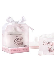 Sugar Candy Jar and Heart Sugar Picks baby shower favors, Wedding Souvenirs